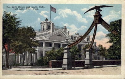 Bee Hive House - Salt Lake City, Utah UT Postcard