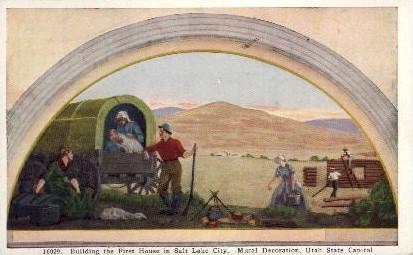 First House in Salt Lake City - Utah UT Postcard