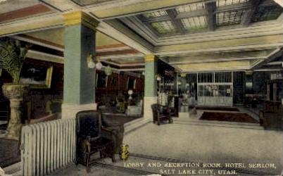 Hotel Semloh - Salt Lake City, Utah UT Postcard