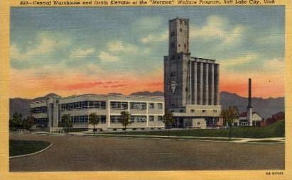 Central Warehouse - Salt Lake City, Utah UT Postcard