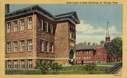 Dixie Junior College Buildings - Salt Lake City, Utah UT Postcard