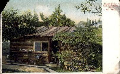 Oldest House - Salt Lake City, Utah UT Postcard