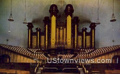 Tabernacle Organ, Temple Square - Salt Lake City, Utah UT Postcard
