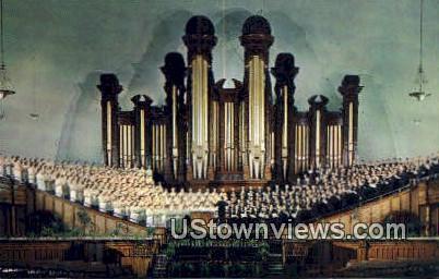Choir & Organ, Mormon Tabernacle - Salt Lake City, Utah UT Postcard