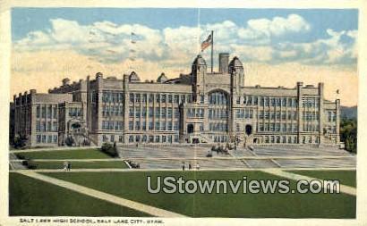 Salt Lake High School - Salt Lake City, Utah UT Postcard