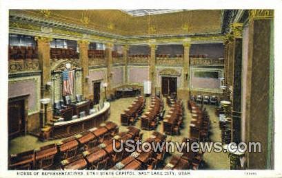House of Representatives, State Capitol - Salt Lake City, Utah UT Postcard