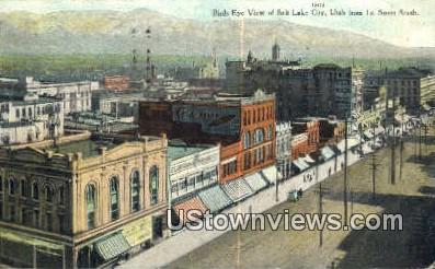 1st Street - Salt Lake City, Utah UT Postcard
