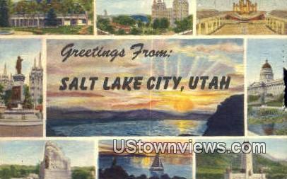 Salt Lake City, Utah     ;     Salt Lake City, UT Postcard