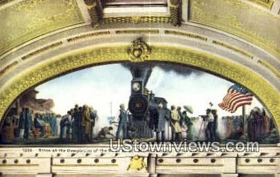 UPRR Mural Painting, Union Station - Salt Lake City, Utah UT Postcard