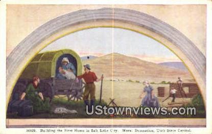 First Home in Salt Lake City, Capitol - Utah UT Postcard