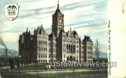 County Bldg - Salt Lake City, Utah UT Postcard