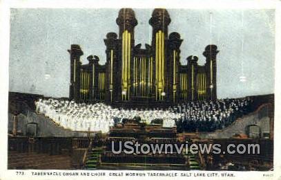 Tabernacle Organ & Choir - Salt Lake City, Utah UT Postcard