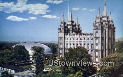 Temple Square - Salt Lake City, Utah UT Postcard