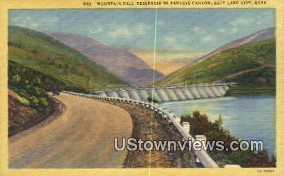 Mountain Dell Reservoir - Salt Lake City, Utah UT Postcard
