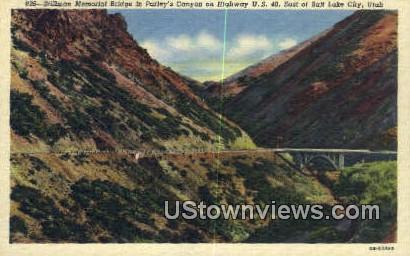 Stillman Memorial Bridge - Salt Lake City, Utah UT Postcard