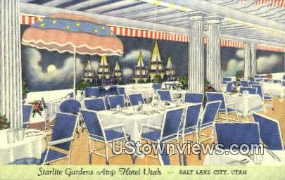Starlite Gardens Atop Hotel Utah - Salt Lake City Postcard