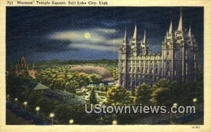 Mormon Temple Square - Salt Lake City, Utah UT Postcard