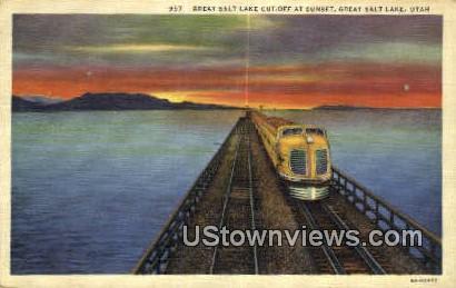 Great Salt Lake Cut Off - Salt Lake City, Utah UT Postcard