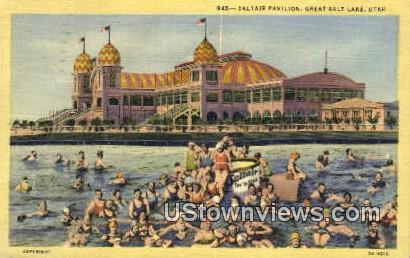 Saltair Pavilion - Great Salt Lake, Utah UT Postcard