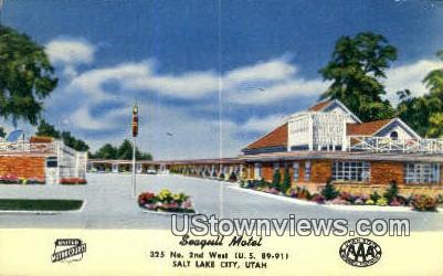 Seagull Motel - Salt Lake City, Utah UT Postcard