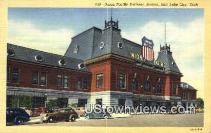 Union Pacific RR Station - Salt Lake City, Utah UT Postcard