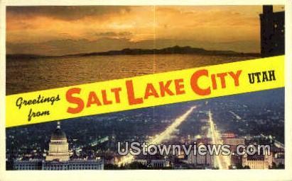 Salt Lake City, UT     ;     Salt Lake City, Utah Postcard