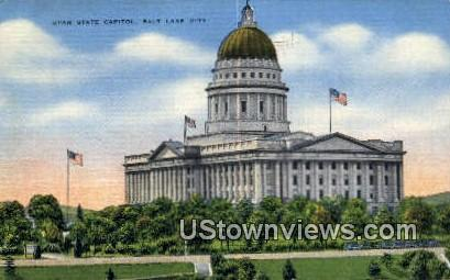 Utah Stat - Salt Lake City Postcard