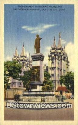 Mormon Pioneers - Salt Lake City, Utah UT Postcard