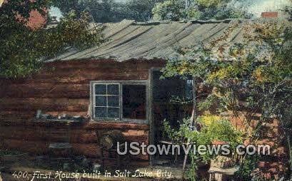 First House Built in Salt Lake City - Utah UT Postcard