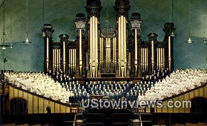 Choir & Organ, Mormon Tabernacle - Salt Lake City, Utah UT Postcard