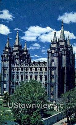 Mormon Temple - Salt Lake City, Utah UT Postcard