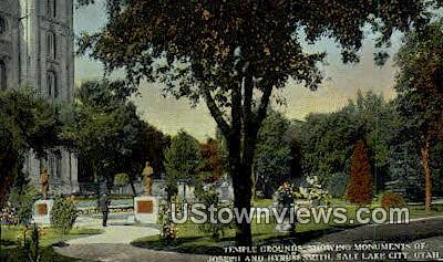 Temple Grounds - Salt Lake City, Utah UT Postcard