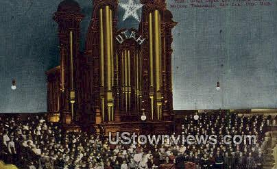 Great Organ, Mormon Tabernacle - Salt Lake City, Utah UT Postcard