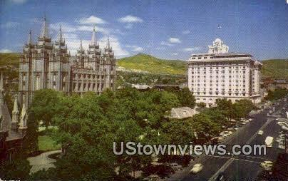 Temple Square - Salt Lake City, Utah UT Postcard