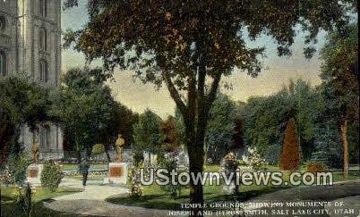 Monuments of Joseph - Salt Lake City, Utah UT Postcard