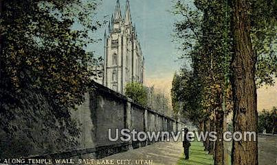 Temple Wall - Salt Lake City, Utah UT Postcard