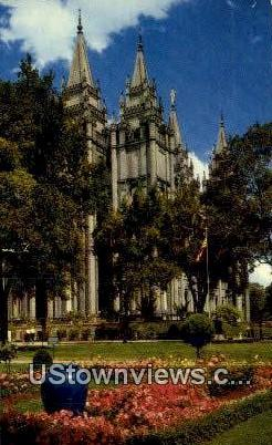 Salt Lake Temple - Salt Lake City, Utah UT Postcard
