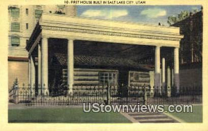 First House Built in Salt Lake City - Utah UT Postcard