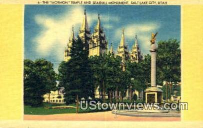 Mormon Temple - American Fork Canyon, Utah UT Postcard