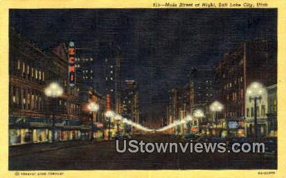 Main Street - Salt Lake City, Utah UT Postcard