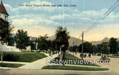 East South Temple Street - Salt Lake City, Utah UT Postcard