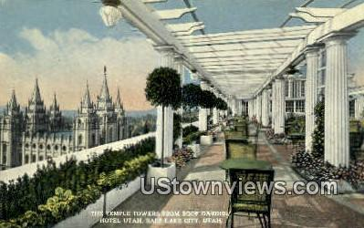Temple Towers, Hotel Utah - Salt Lake City Postcard