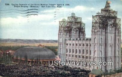 Great Mormon Temple - Salt Lake City, Utah UT Postcard