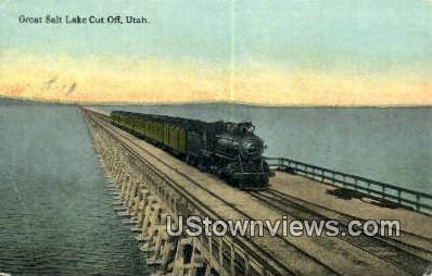 Great Salt Lake Cut Off - Utah UT Postcard