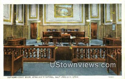 Supreme Court Room, State Capitol - Salt Lake City, Utah UT Postcard