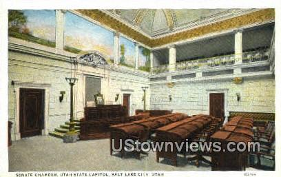 Senate Chamber, State Capitol - Salt Lake City, Utah UT Postcard