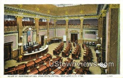 House of Representatives, State Capitol - Salt Lake City, Utah UT Postcard