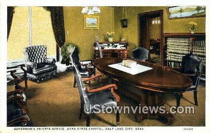 Governor's Private Office, State Capitol - Salt Lake City, Utah UT Postcard
