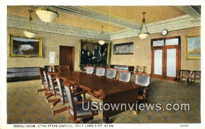 Board Room, State Capitol - Salt Lake City, Utah UT Postcard