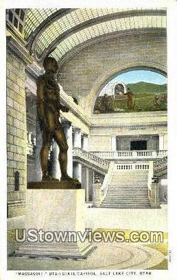 Massasoit, State Capitol - Salt Lake City, Utah UT Postcard